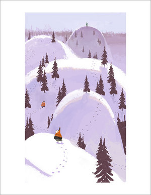 Christmas Tree Hunting print, Chris Appelhans