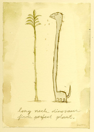 Long Neck Dinosaur Finds Perfect Plant, scott c