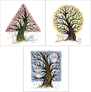 Shapetrees 3 Print Set, Kazu Kibuishi
