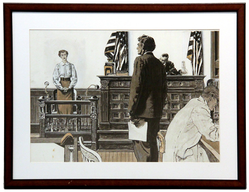 Lawyer in Courtroom (This Week), Robert Fawcett