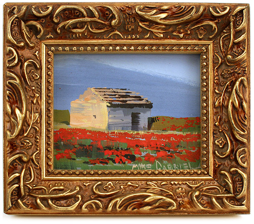 Italian Countryside with Red Flowers, michael Gabriel