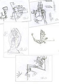 5 roughs for Under the Snow, Ahmed Guerrouache