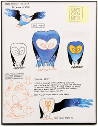 Cosmic Owl Concept Drawings, Adam Muto