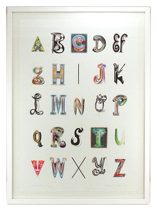 Alphabet with Monogram, Ed  Fella
