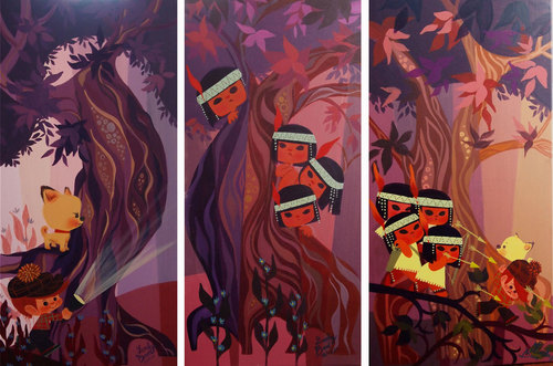 Heading East (Triptych), Lorelay Bove