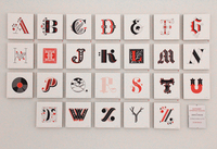 Alphabet Letterpress Prints (Editions of 75), Jessica Hische
