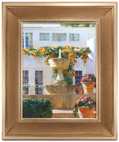 Orange Bougainvilleas, William Perkins