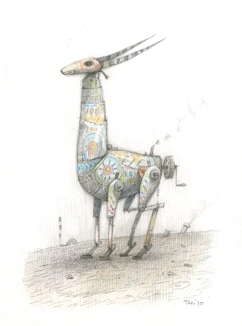 Shaun Tan - Artwork - Home-made antelope - Nucleus | Art