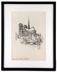 Notre Dame Cathedral Sketch, Ronald Searle