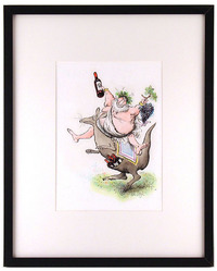 Bacchus On Kangaroo   , Ronald Searle