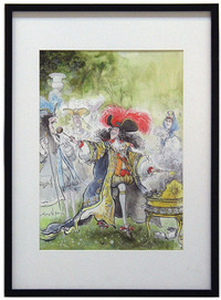 Louis XIVth Barbequeing      , Ronald Searle