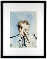 Red Skelton with Cigar , Ronald Searle