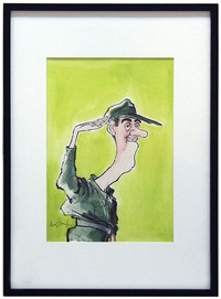 Jim Nabors as Gomer Pyle, Ronald Searle