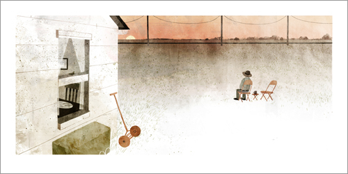 House Held Up By Trees - Page 13-14 (Living Alone), Jon Klassen