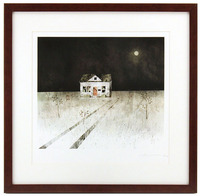House Held Up By Trees - Page 18 (Empty House) Framed/Signed, Jon Klassen
