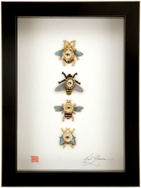 Cabinet of Curiosities Specimen no. 37 - The Honey Bee Eye Flies , Mab Graves