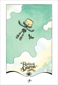 Robot and Sparrow (Title Page), Jake Parker