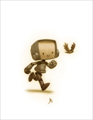 Robot and Sparrow (portrait), Jake Parker