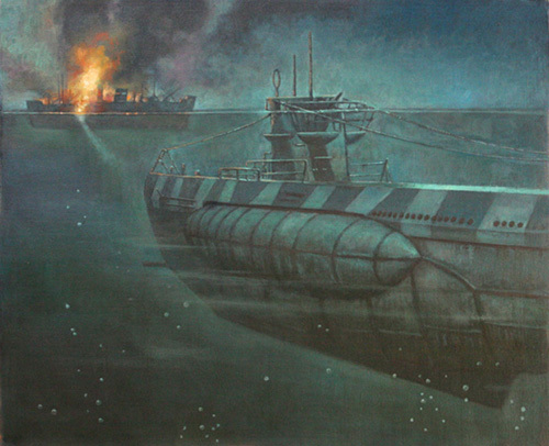 U-boat in Atlantic , Robert  Barrett