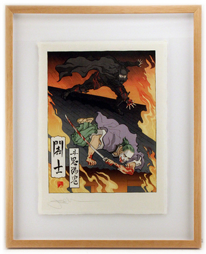 Descent Into Madness (Framed Print), Jed Henry