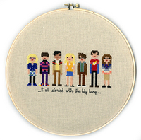 Pixel People - Big Bang Theory, weelittlestitches