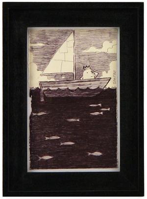 Beekle Sailing (Small Sketch), Dan Santat