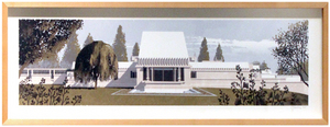 Hollyhock House (framed), Chris Turnham