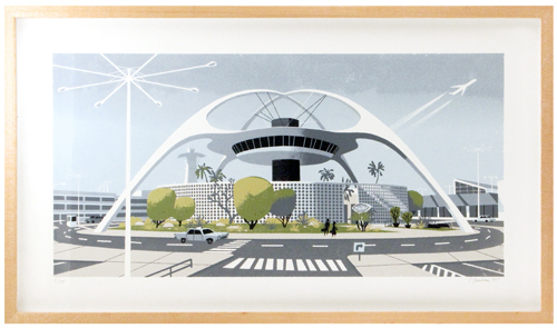 Theme Building (framed), Chris Turnham