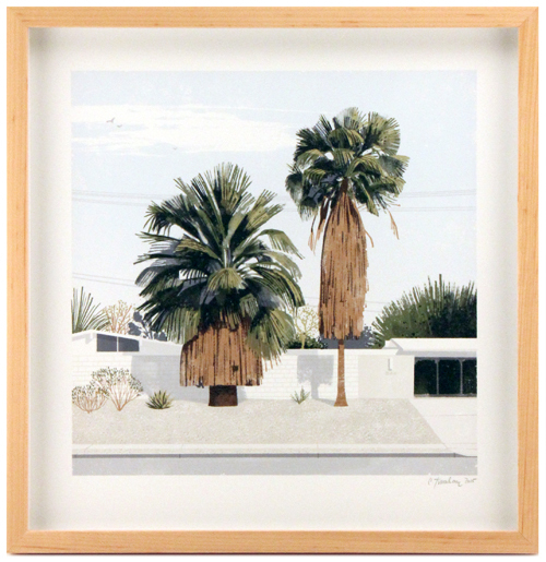 Two Palms (framed), Chris Turnham