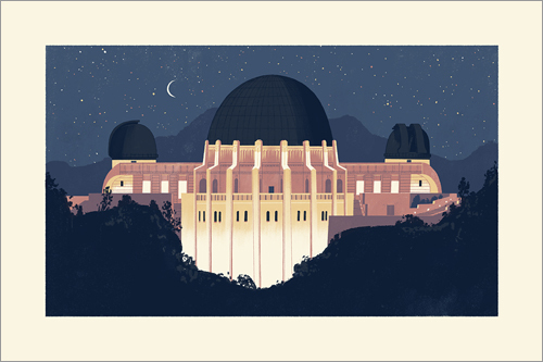 Griffith Observatory Print, Chris Turnham