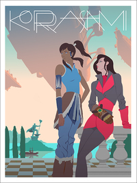 Korra and Asami, Mike Lee