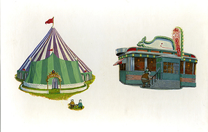 Circus and Diner (Chu's Day pg 11 & 17) Unframed, Adam Rex