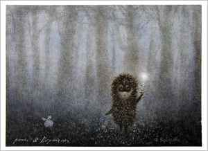 Hedgehog and Firefly  (unframed), Roman  Tabakh