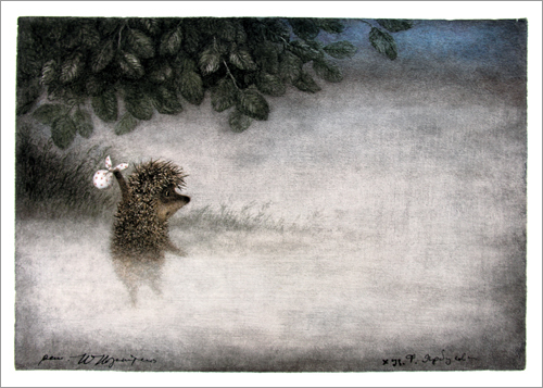 Hedgehog Entering the Fog (unframed), Roman  Tabakh