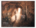 Tale of Tales - Little Wolf Lit Doorway (unframed), Roman  Tabakh