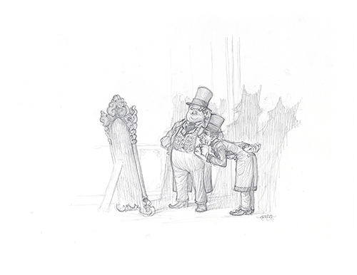 The Other Side of the Mirror [Men in top hats], Justin Gerard
