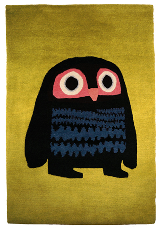 Chris Haughton Handwoven Rug (Owl), Chris Haughton