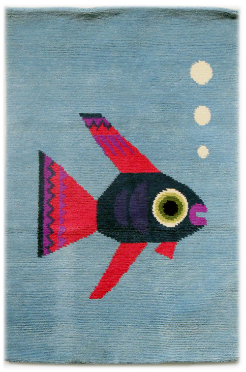 Chris Haughton Handwoven Rug (Fish), Chris Haughton