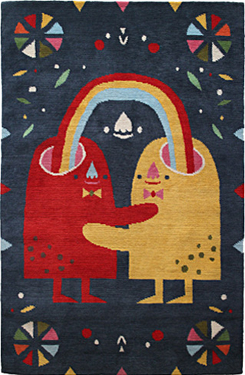 Michelle Romo Handwoven Rug, Crowded Teeth