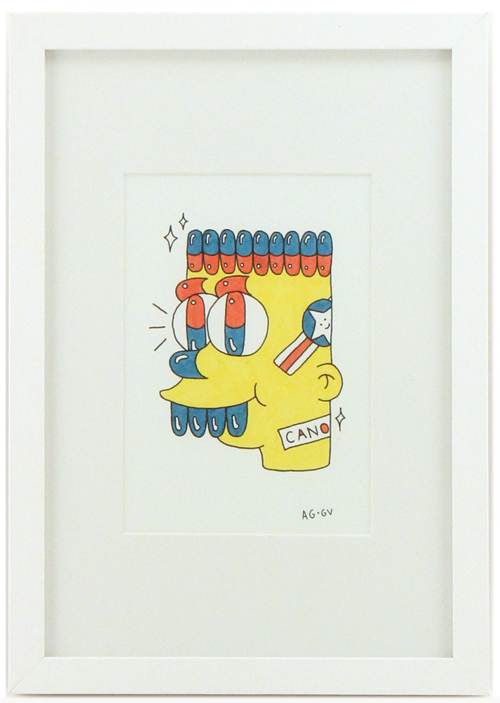 'Bart With Pills For Eyes', Aaron Grech