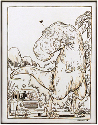 Meeting a T-Rex (unpublished), Dan Santat