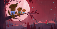 Monster & Son (Wolves) print, Joey Chou