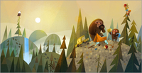 Monster & Son (Bigfoot) print, Joey Chou
