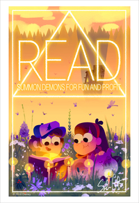 A Normal Poster Encouraging Children to Read (print), Sabrina Cotugno