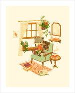 A Quiet Day Reading Is Perfect For One (print), Teagan White