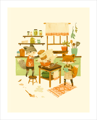 Pancakes Are More Fun To Make As A Pair (print), Teagan White