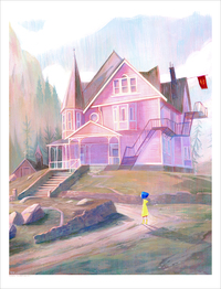 The Pink Palace (PRINT) (Coraline), Jennifer Ely