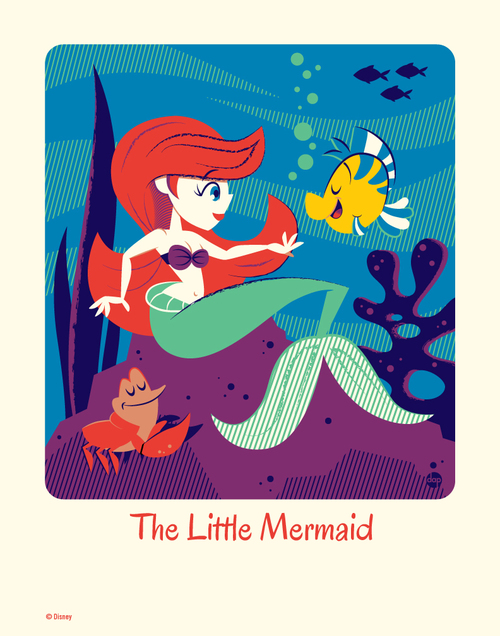 Cyclops Print Works #58: The Little Mermaid - Dave Perillo (print) Limited Edition of 95, Dave Perillo