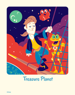 Cyclops Print Works #61: Treasure Planet - Dave Perillo (print) Limited Edition of 95, Treasure Planet