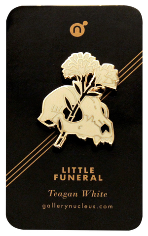 Teagan White Little Funeral - Nucleus Enamel Pin, Teagan White